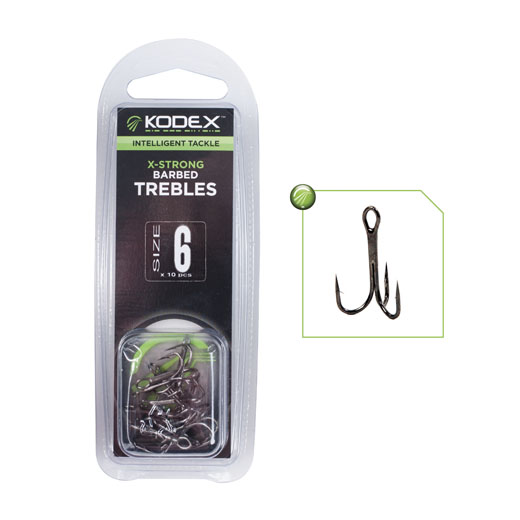 Kodex X-Strong Trebles size 6 1