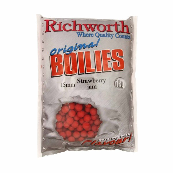 Richworth - Strawberry Jam Boilies 15mm 1kg 1