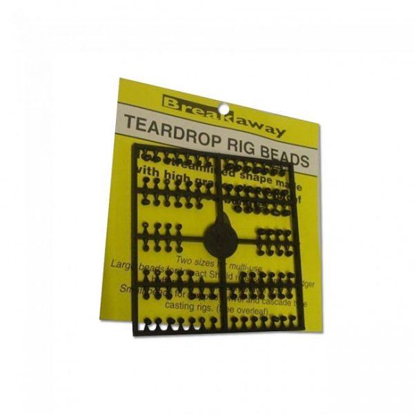 Breakaway Teardrop beads - Black 1