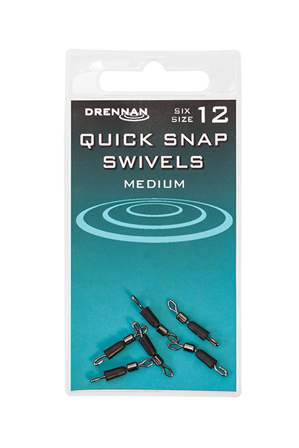 Drennan Quick Snap Swivels - Medium - Size 12 1