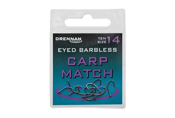 Drennan Eyed Barbless Carp Match Hook - Size 8 1