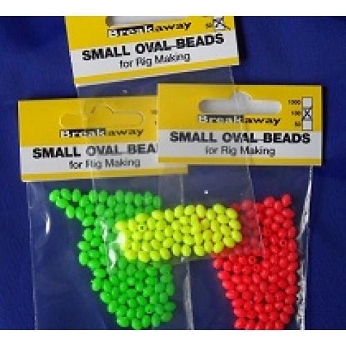 Breakaway oval beads - orange 1
