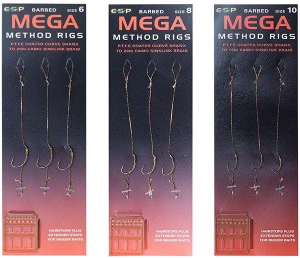 ESP Mega Method Rigs Barbless Size 6 1